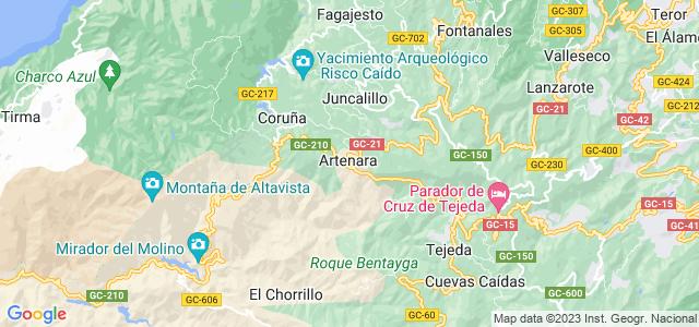 Mapa de Artenara