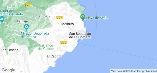 Mapa de San Sebastián de la Gomera