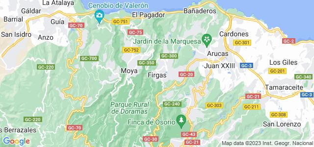 Mapa de Firgas