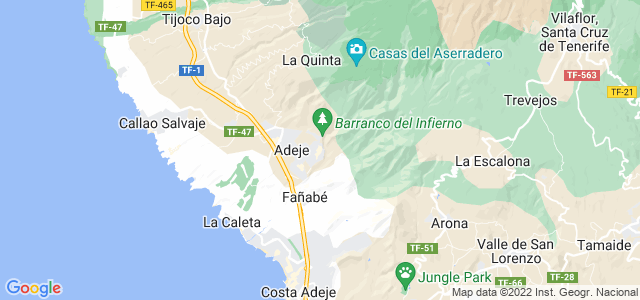 Mapa de Adeje
