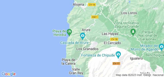 Mapa de Valle Gran Rey