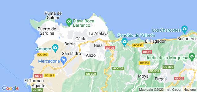 Mapa de Santa María de Guía de Gran Canaria