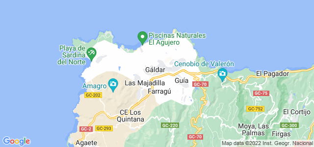 Mapa de Gáldar