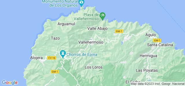 Mapa de Vallehermoso