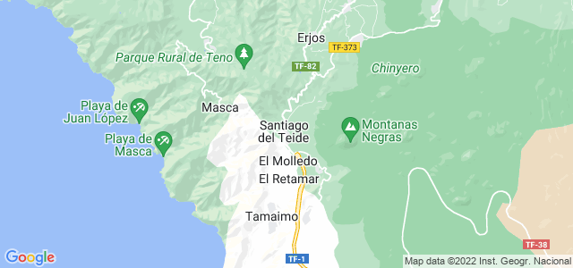 Mapa de Santiago del Teide