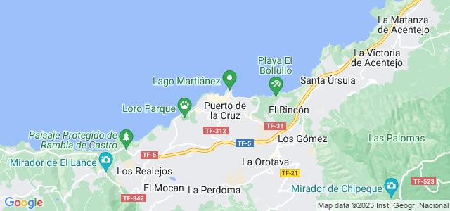 Mapa de Puerto de la Cruz