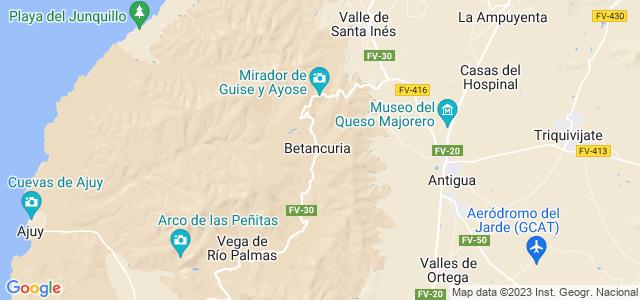 Mapa de Betancuria