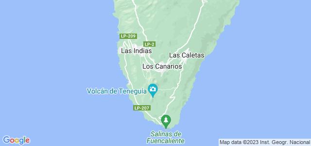 Mapa de Fuencaliente de la Palma