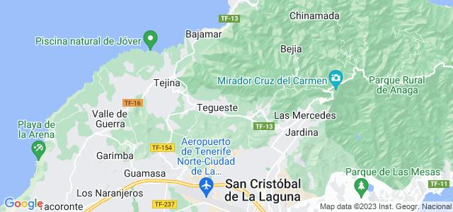 Mapa de Tegueste