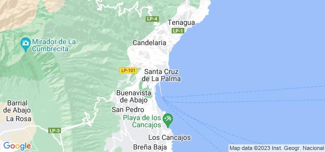 Mapa de Santa Cruz de la Palma
