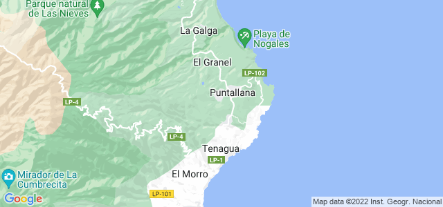 Mapa de Puntallana
