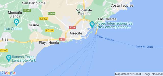 Mapa de Arrecife
