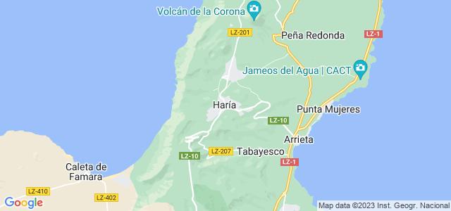 Mapa de Haría