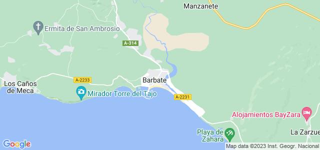 Mapa de Barbate
