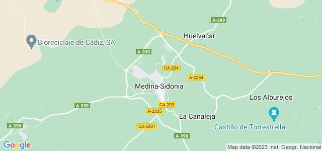 Mapa de Medina-Sidonia