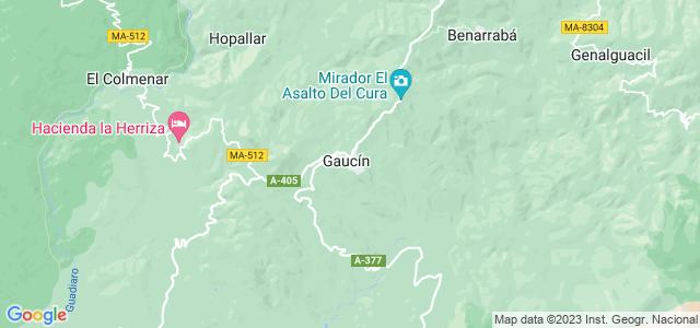 Mapa de Gaucín