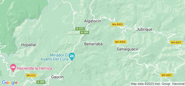 Mapa de Benarrabá