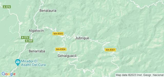 Mapa de Jubrique