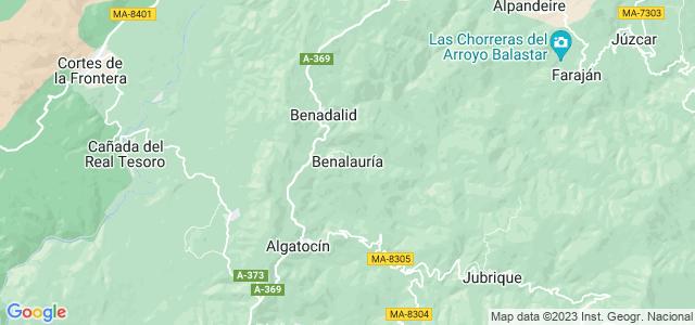 Mapa de Benalauría