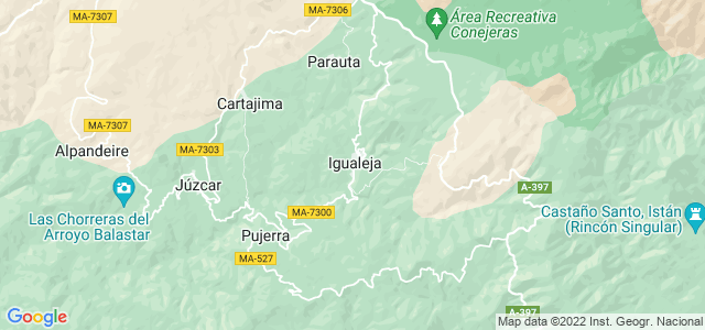 Mapa de Igualeja