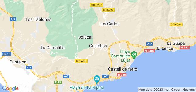 Mapa de Gualchos