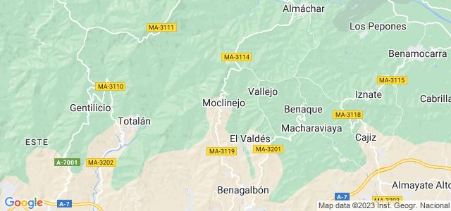 Mapa de Moclinejo