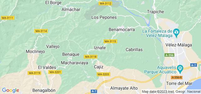 Mapa de Iznate