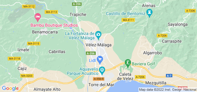 Mapa de Vélez-Málaga