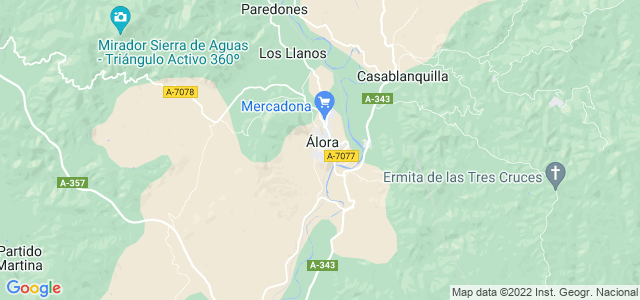 Mapa de Álora