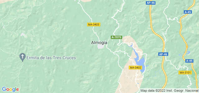 Mapa de Almogía
