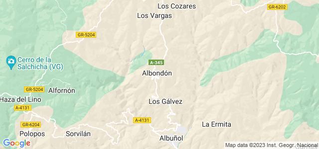 Mapa de Albondón