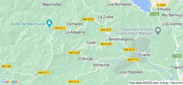 Mapa de Cútar