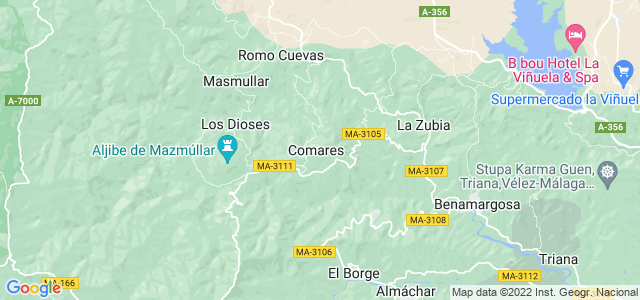 Mapa de Comares