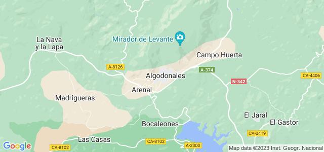 Mapa de Algodonales
