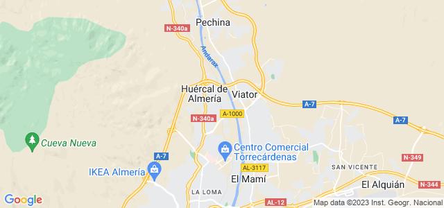 Mapa de Huércal de Almería