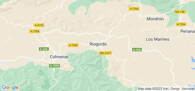 Mapa de Riogordo
