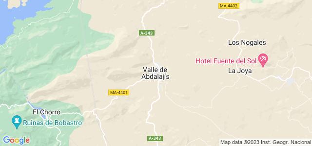 Mapa de Valle de Abdalajís