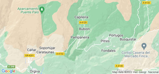 Mapa de Pampaneira
