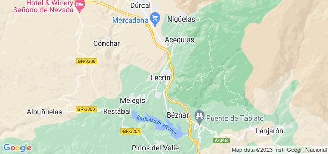 Mapa de Lecrín