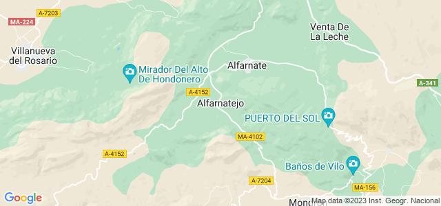 Mapa de Alfarnatejo
