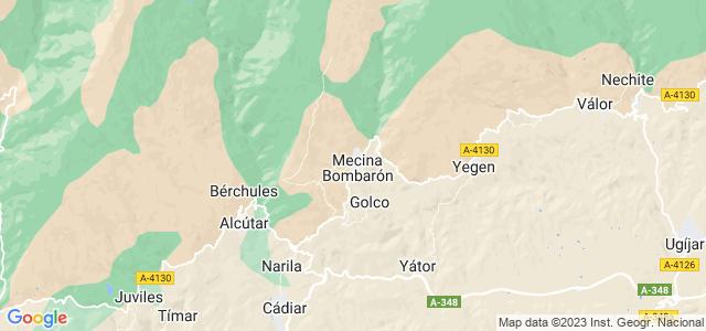 Mapa de Alpujarra de la Sierra