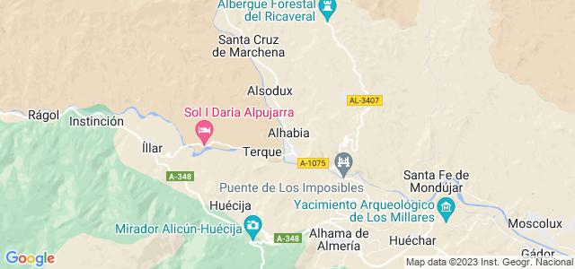 Mapa de Alhabia