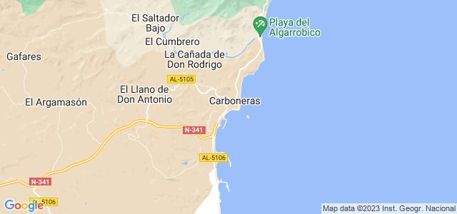 Mapa de Carboneras