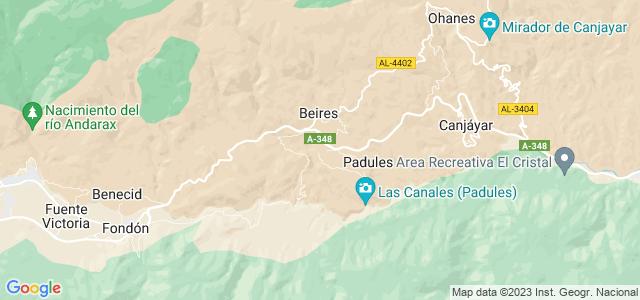 Mapa de Almócita