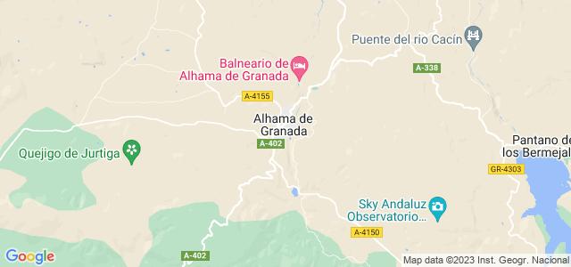 Mapa de Alhama de Granada