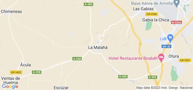 Mapa de Malahá