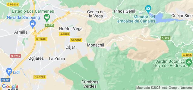 Mapa de Monachil