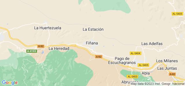 Mapa de Fiñana