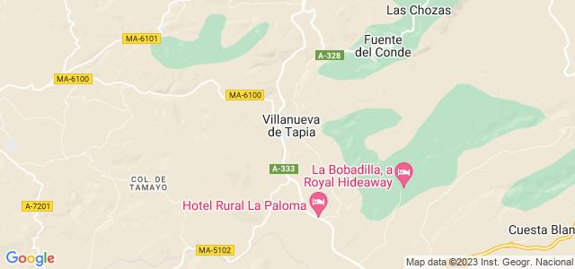 Mapa de Villanueva de Tapia