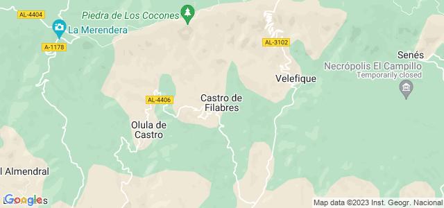 Mapa de Castro de Filabres